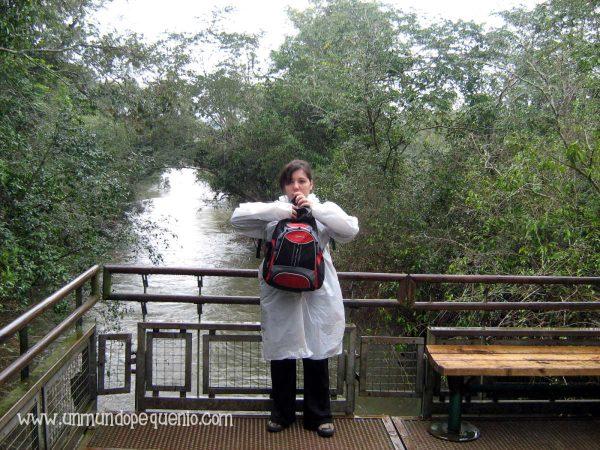 Yo en Iguazú hace muchos años