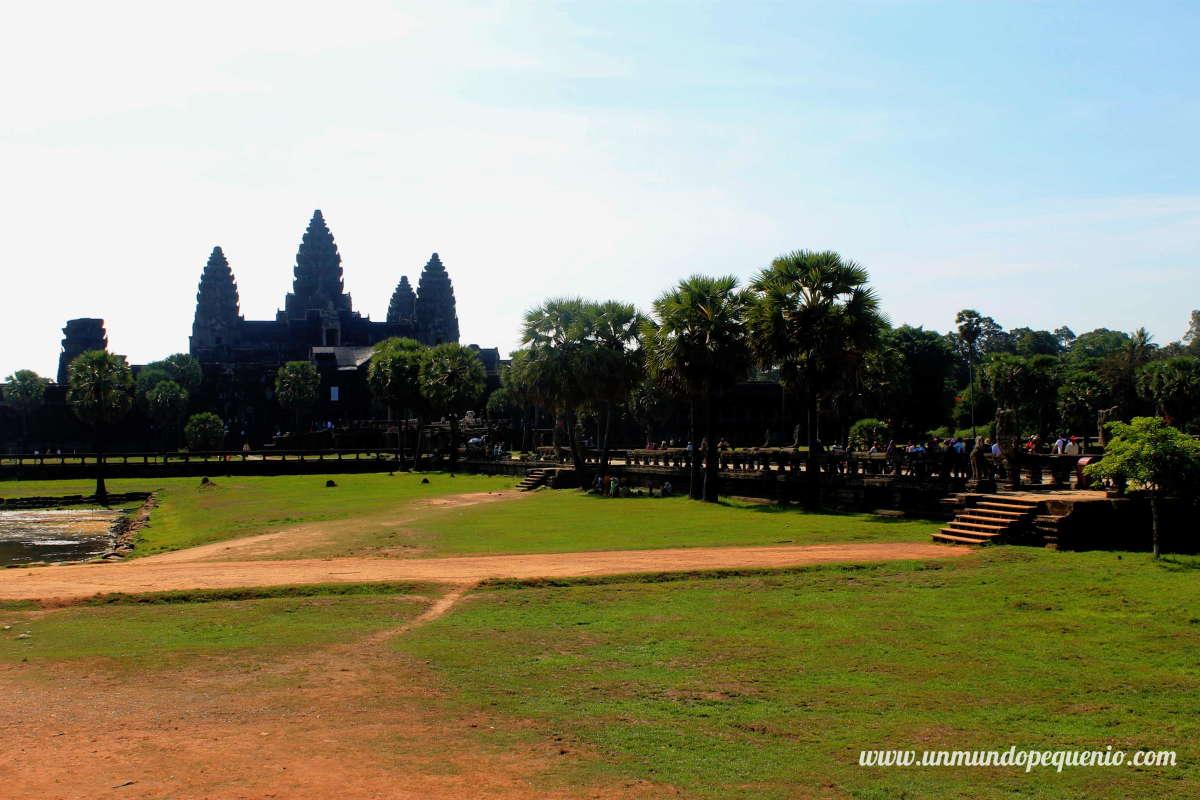Angkor Wat visto de lejos