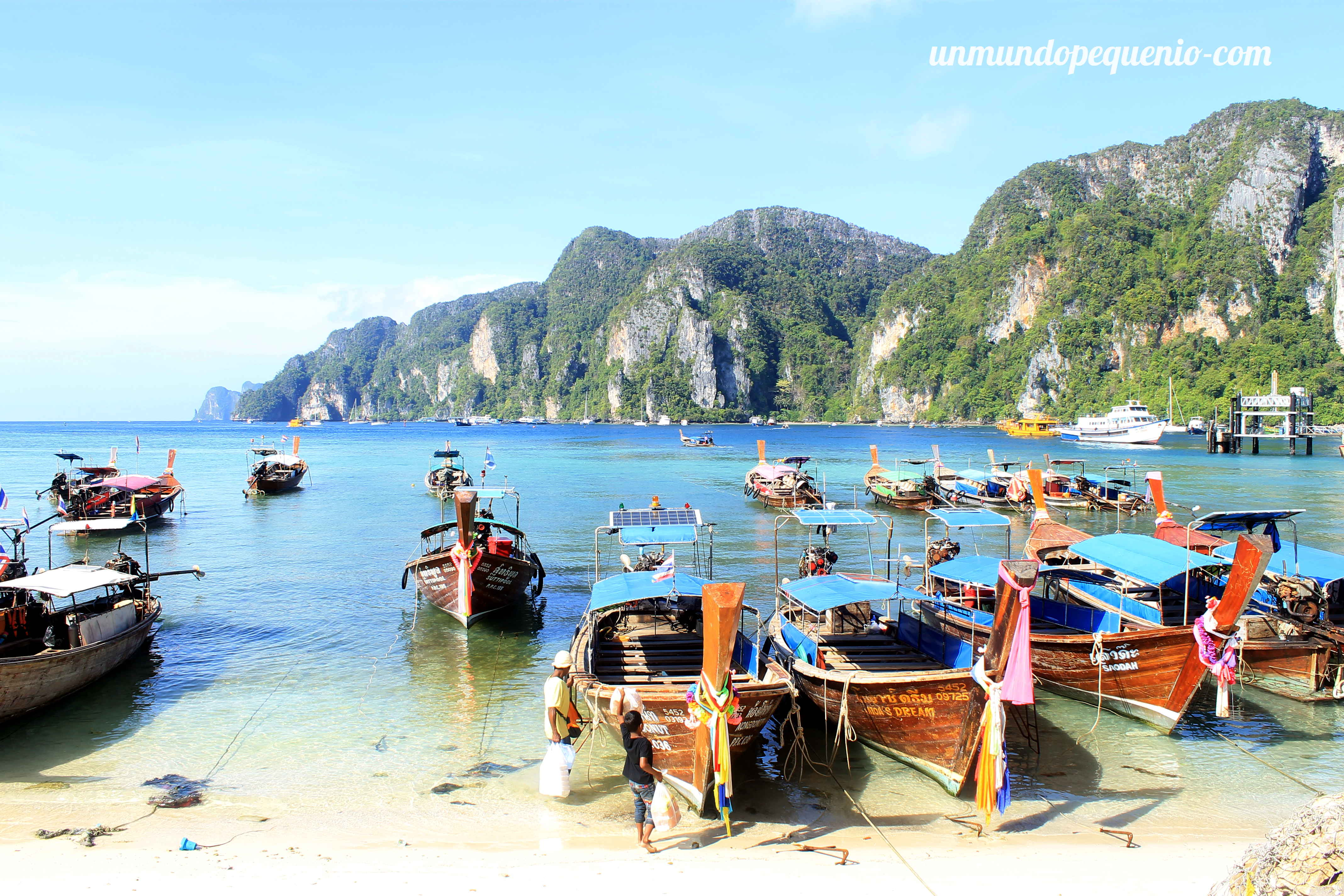 Long Tail Boat en Phi Phi