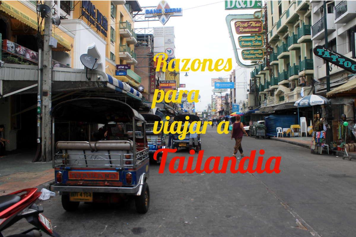 Razones para viajar a Tailandia