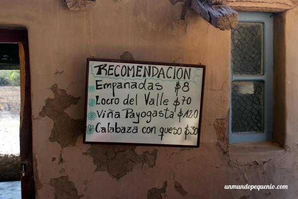 Recomendación restaurante Sala de Payogasta