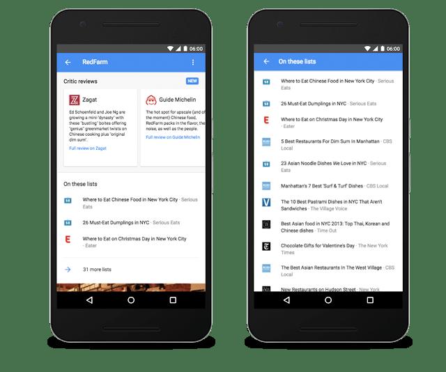 Google destaca mejores bares y restaurantes