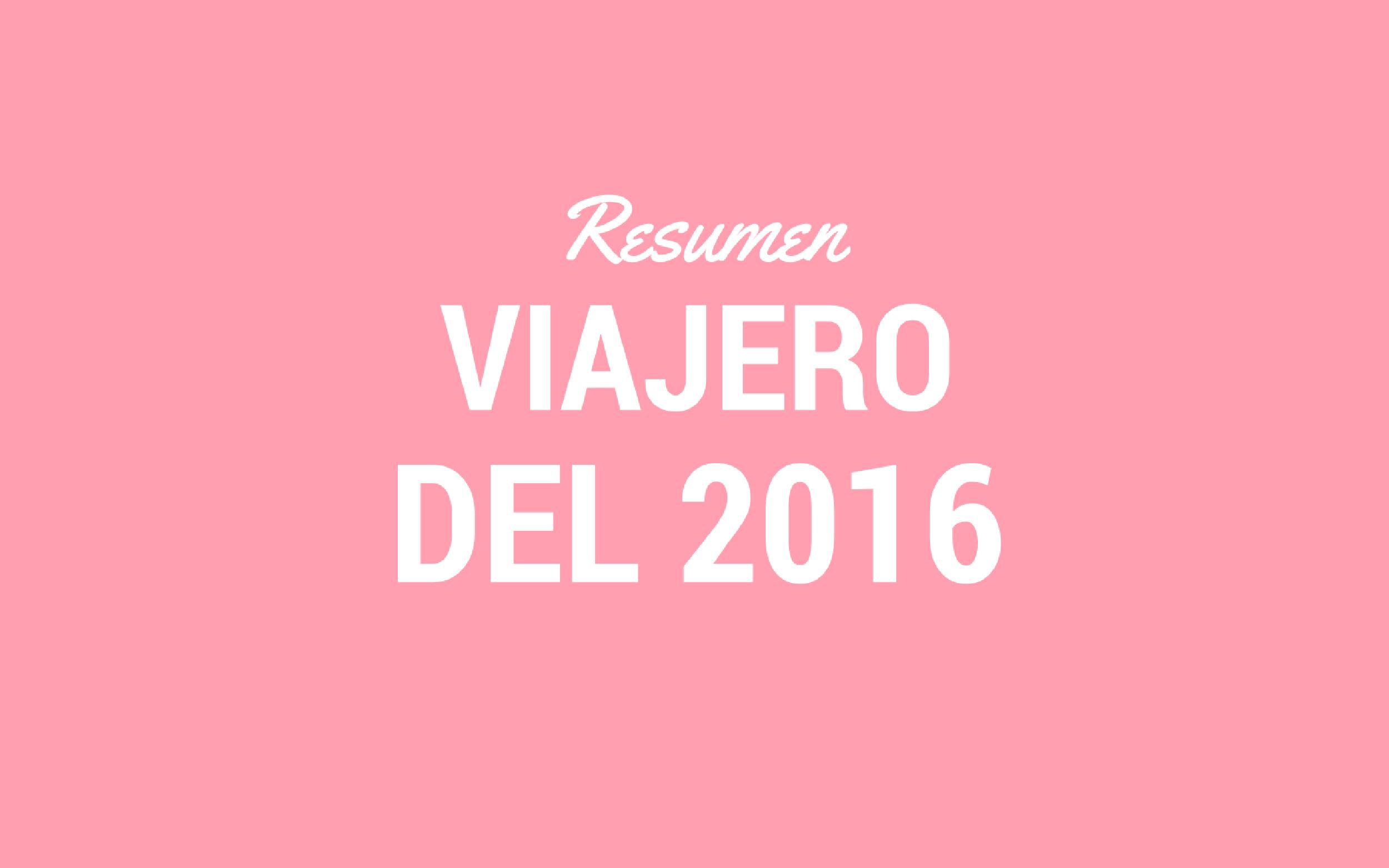 2016 EN VIAJES