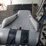 Tobogán armado visto desde el avión