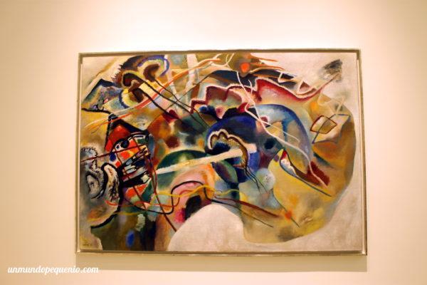 Pintura con borde blanco - V. Kandinsky 1913