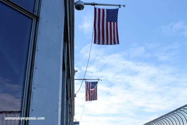Banderas yankees en el Empire State