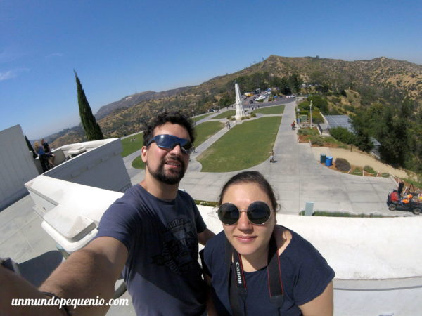 Seba y yo en el observatorio Griffith