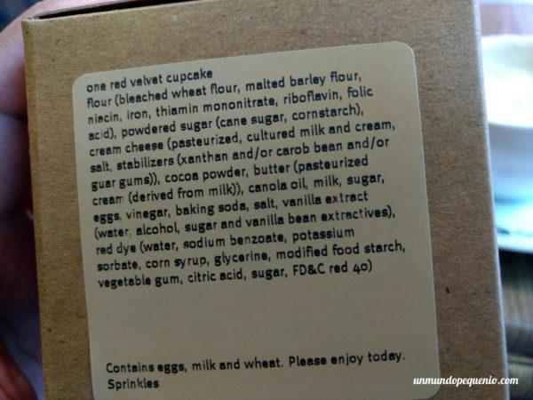Ingredientes del red velvet