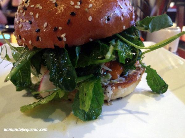 Portobella burger de cerca