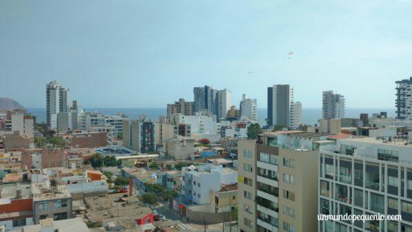 Lima desde la ventana del hotel