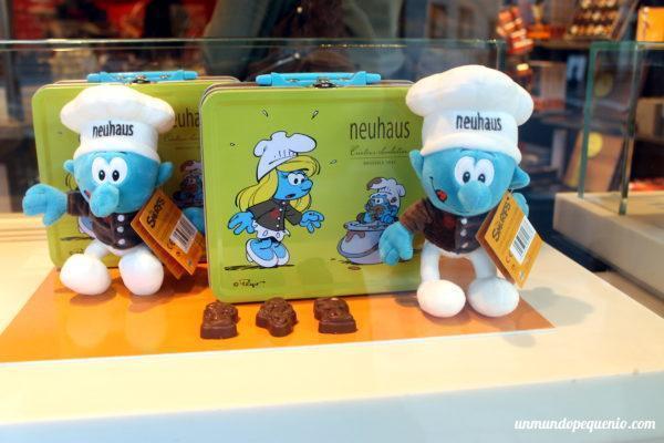 Pitufos de chocolate Neuhaus