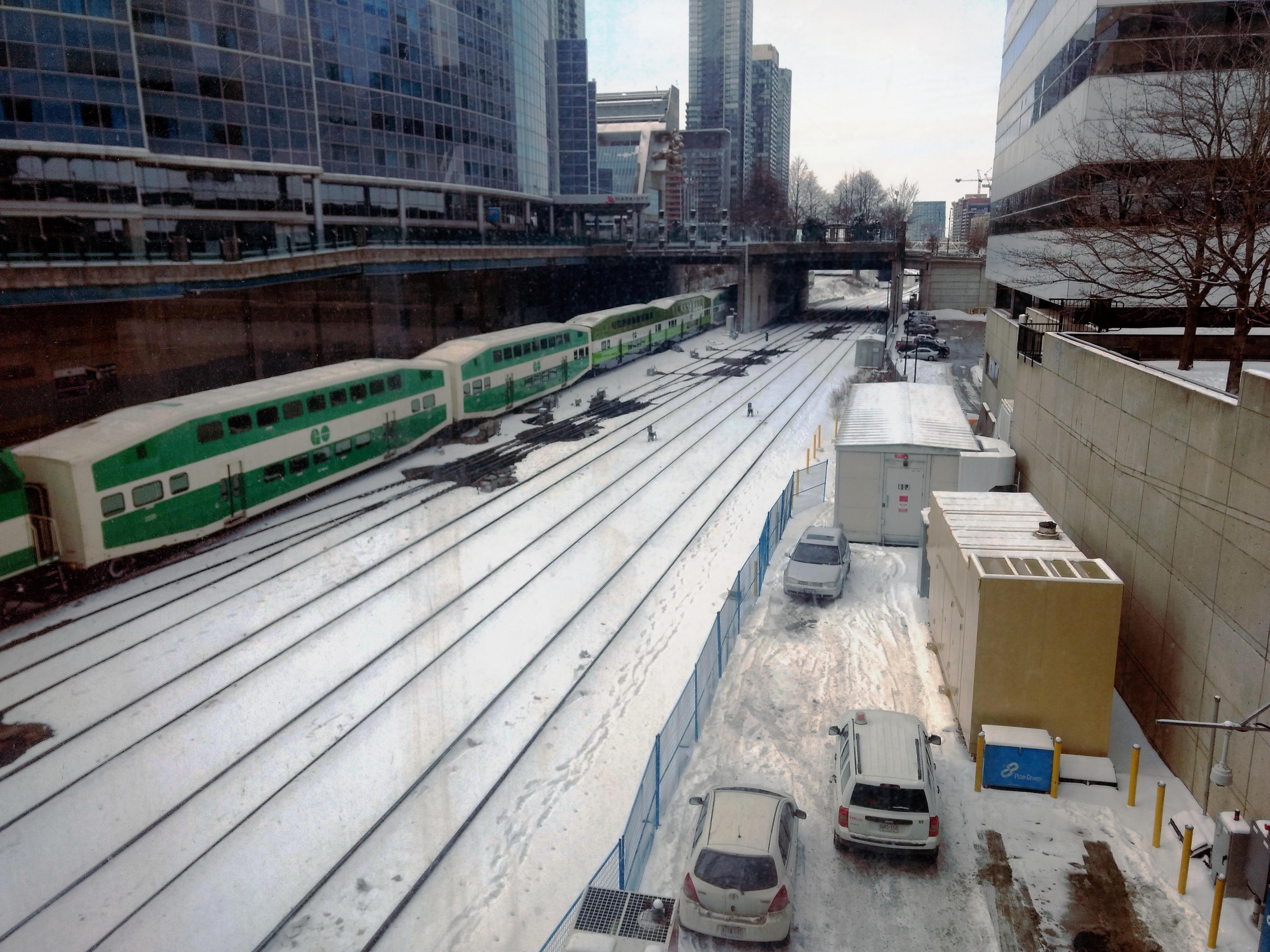 Tren canadiense en Toronto