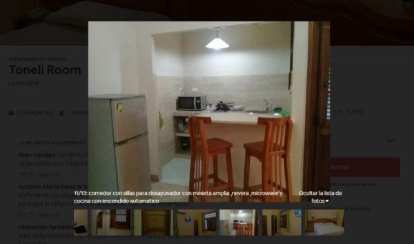 Cocina Airbnb La Habana