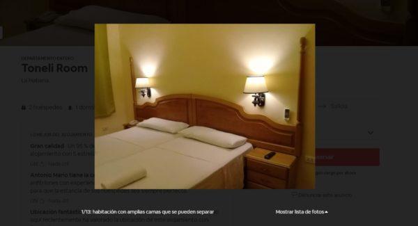 Habitación del Airbnb de La Habana