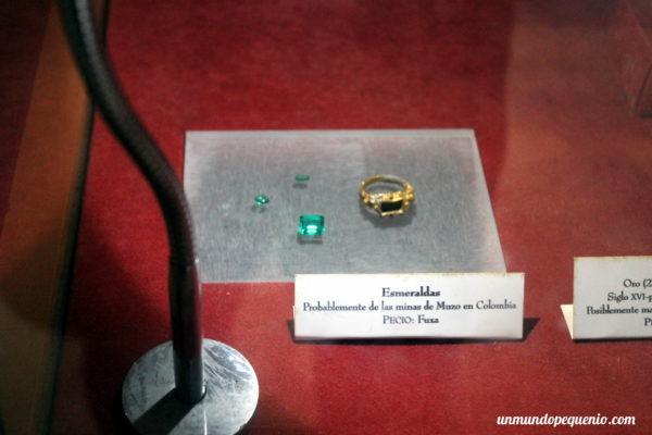 Esmeraldas colombianas encontradas en naufragio