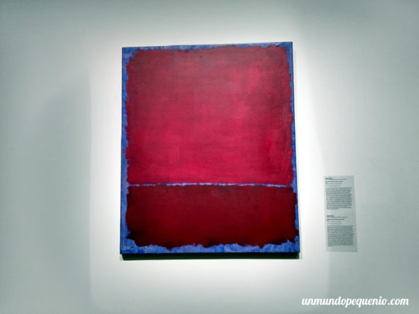 Red and burgundy over blue - Rothko