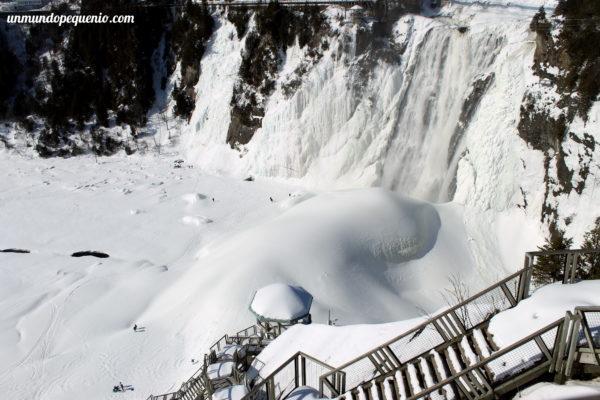 Cataratas de Montmorency vistas desde arriba