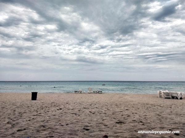 Playa de Varadero en día nublado