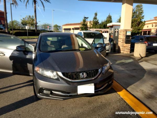 El auto de la señora que nos chocó