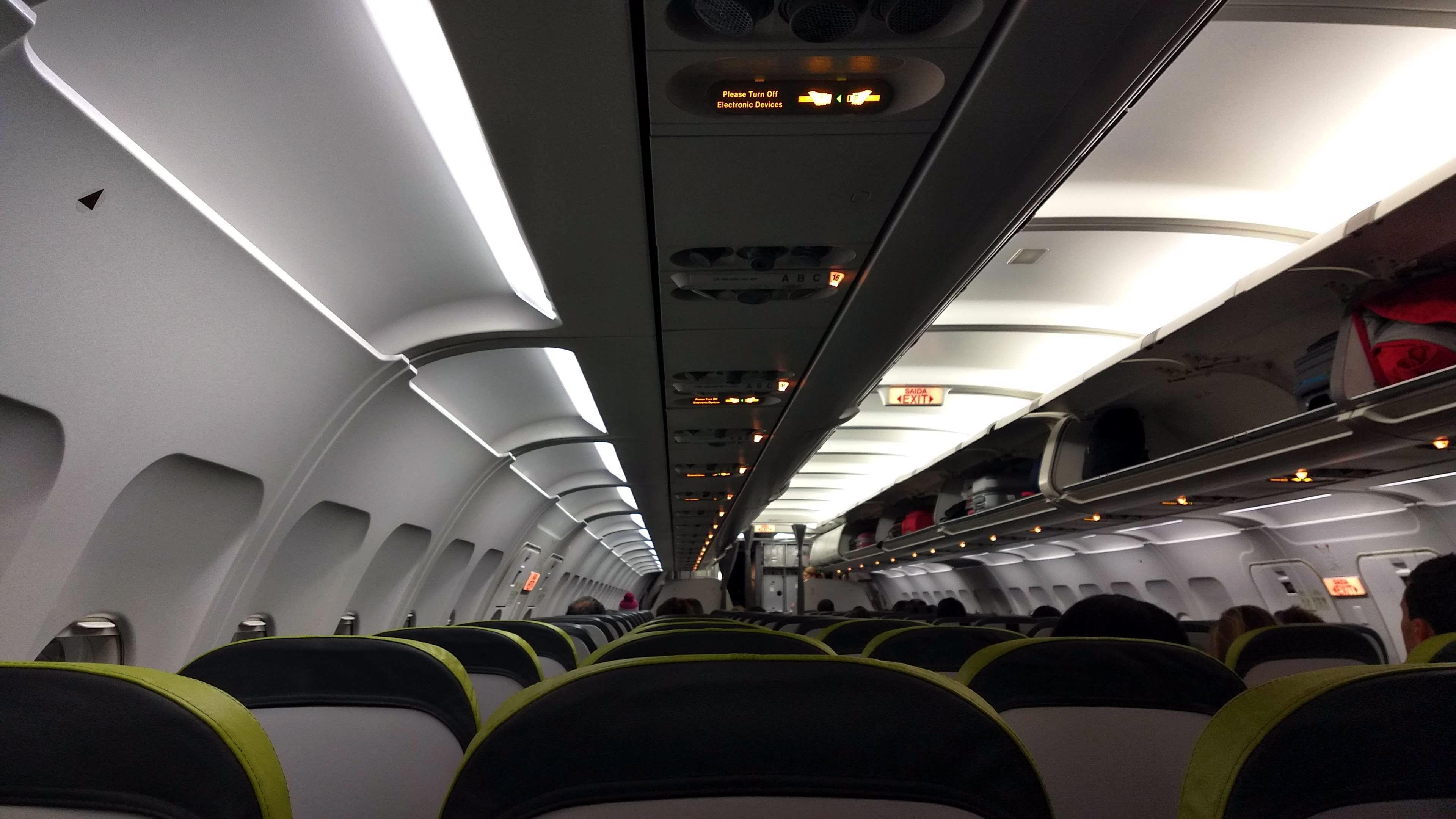 Avión de TAP Portugal por dentro