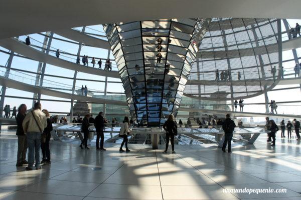 Cúpula del Reichstag con gente