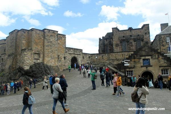 Área abierta del Castillo de Edimburgo