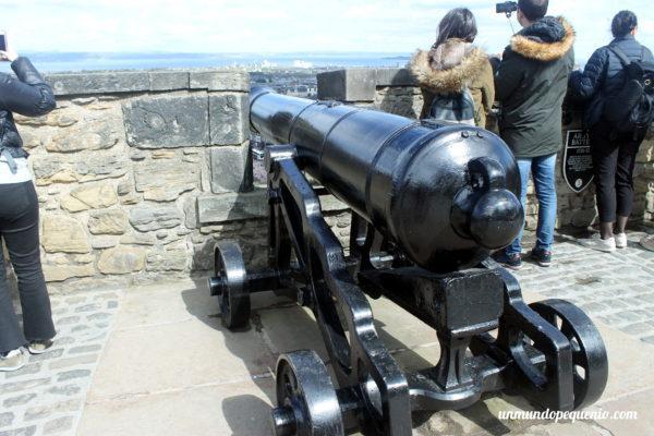 Cañón del castillo de Edimburgo