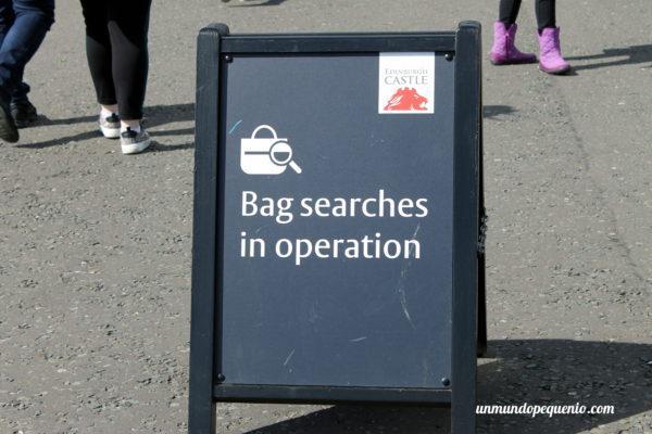 Control de seguridad en Castillo de Edimburgo