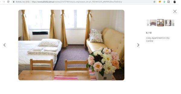 Descripción departamento Praga Airbnb
