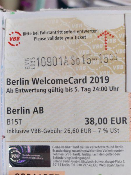 Ticket de transporte Berlín Welcome Card