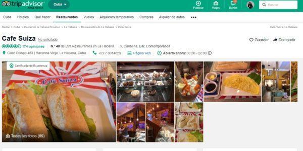 Tripadvisor Café Suiza