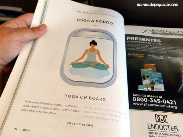 Yoga a bordo