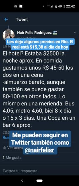 Precios en Barra da Tijuca 1