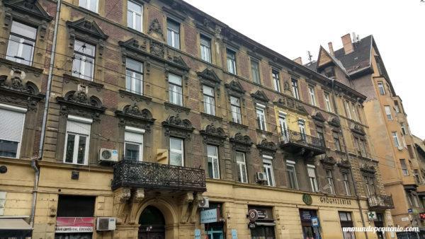 Típico edificio del Barrio Judío de Budapest