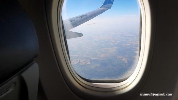 Vista del ala vuelo Río a Buenos Aires
