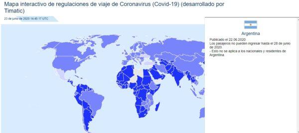 Restricciones de Argentina coronavirus