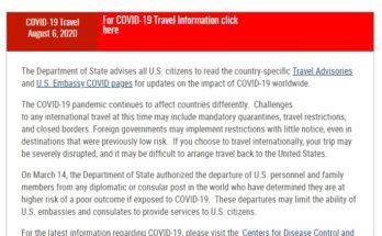 Departamento de Estado US covid