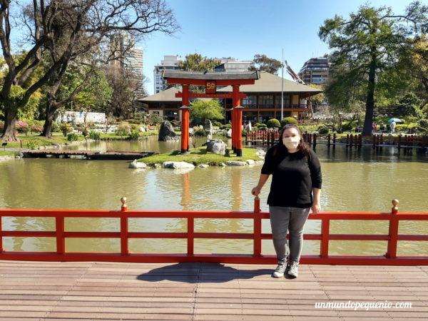 Yo en el Jardín Japonés