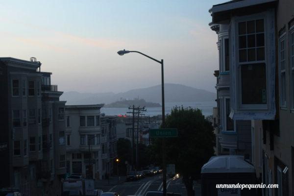 Vista de Alcatraz desde Russian Hill
